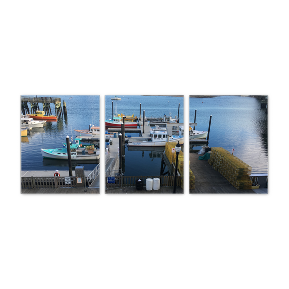 Fishing Boats Panoramic set of 3