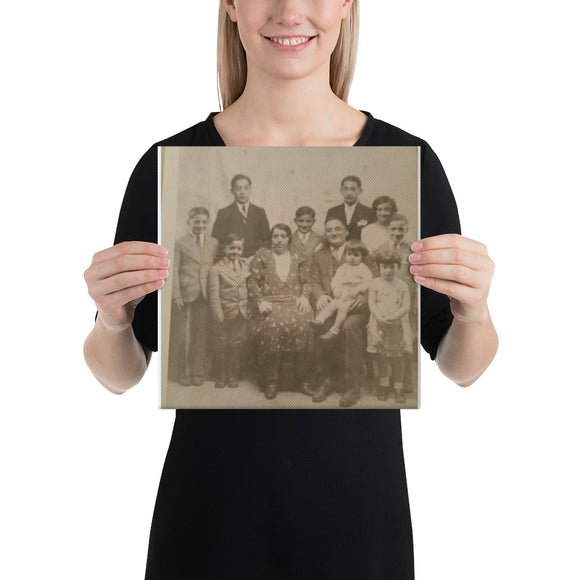 Cerretani Family Photo Canvas