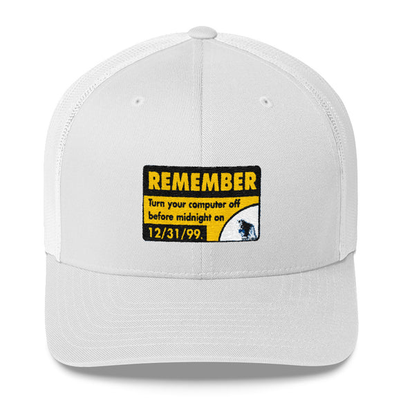 Remember Y2K Spiff Chimp Trucker Cap