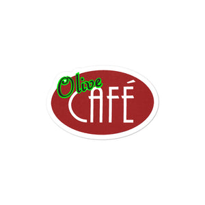 Olive Cafe Bubble-free sticker