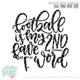 Football F Word - SVG PNG DXF EPS Cut File • Silhouette • Cricut • More