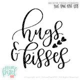 Hugs and Kisses Hearts - SVG PNG DXF EPS Cut File • Silhouette • Cricut • More
