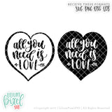 Love is All You Need - Heart - SVG PNG DXF EPS Cut File • Silhouette • Cricut • More