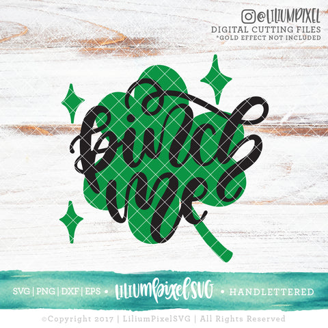 Clover - Pinch Me - SVG PNG DXF EPS Cut File • Silhouette • Cricut • More