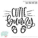 Cutie Bunny Feet - SVG PNG DXF EPS Cut File • Silhouette • Cricut • More