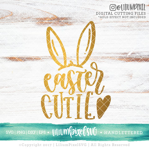 Cutie Bunny - SVG PNG DXF EPS Cut File • Silhouette • Cricut • More