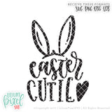 Easter Cutie With Bunny Ears - SVG PNG DXF EPS Cut File • Silhouette • Cricut • More