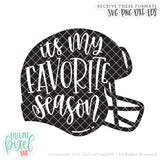 Football Helmet - Its My Favorite Season - SVG PNG DXF EPS Cut File • Silhouette • Cricut • More