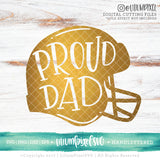 Football Helmet - Proud Dad - SVG PNG DXF EPS Cut File • Silhouette • Cricut • More