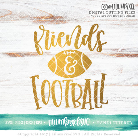 Friends and Football - SVG PNG DXF EPS Cut File • Silhouette • Cricut • More