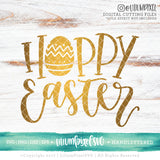 Hoppy Easter - SVG PNG DXF EPS Cut File • Silhouette • Cricut • More