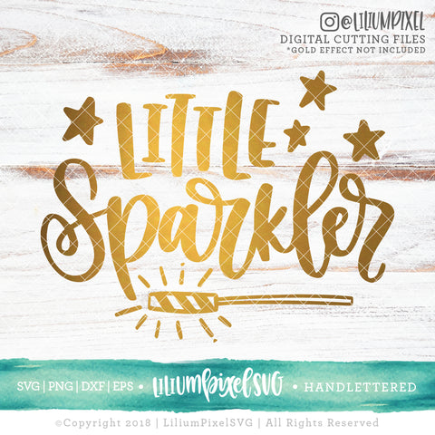 Little Sparkler  - SVG PNG DXF EPS Cut File • Silhouette • Cricut • More