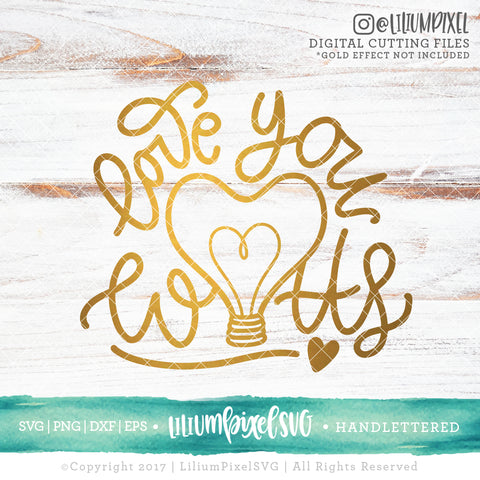 Love You Watts - SVG PNG DXF EPS Cut File • Silhouette • Cricut • More