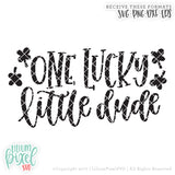 One Lucky Little Dude - SVG PNG DXF EPS Cut File • Silhouette • Cricut • More