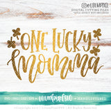 One Lucky Momma - SVG PNG DXF EPS Cut File • Silhouette • Cricut • More