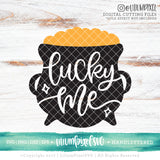 Pot of Gold - Lucky Me - SVG PNG DXF EPS Cut File • Silhouette • Cricut • More