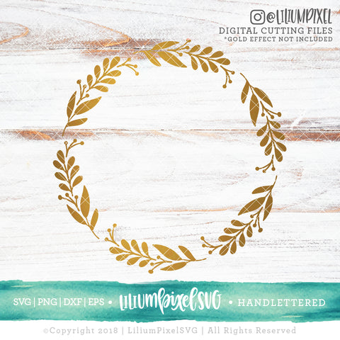 Spring Wreath 1 - SVG PNG DXF EPS Cut File • Silhouette • Cricut • More