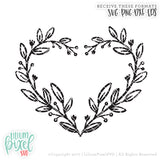 Floral Heart - SVG PNG DXF EPS Cut File • Silhouette • Cricut • More