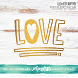 Love Block Letters - SVG PNG DXF EPS Cut File • Silhouette • Cricut • More