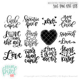 Valentines Bundle No. 1 - SVG PNG DXF EPS Cut File • Silhouette • Cricut • More