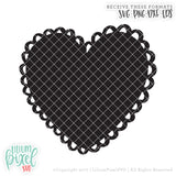 Frilly Heart - SVG PNG DXF EPS Cut File • Silhouette • Cricut • More