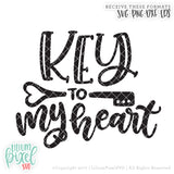 Key to My Heart - SVG PNG DXF EPS Cut File • Silhouette • Cricut • More