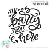 The Party Starts Here - SVG PNG DXF EPS Cut File • Silhouette • Cricut • More