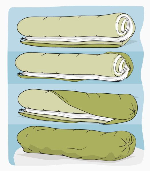 How to put on a duvet cover using the burrito method - step 4