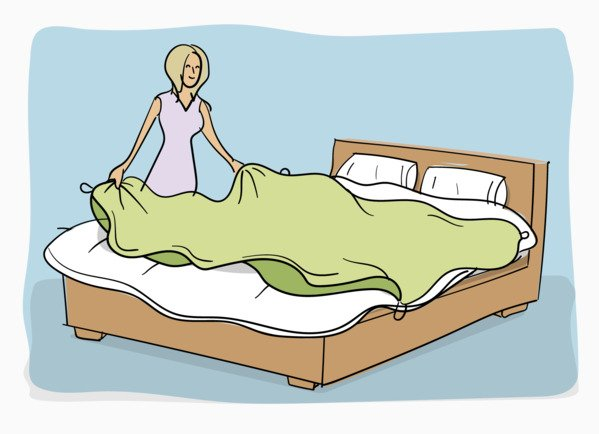 How to put on a duvet cover step 2