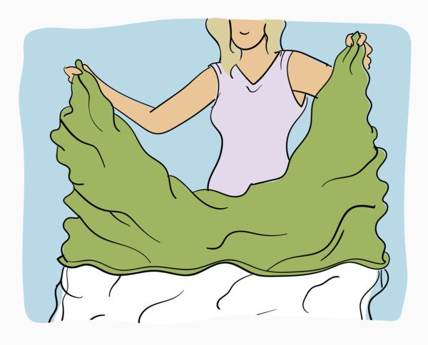 How to put on a duvet cover step 5