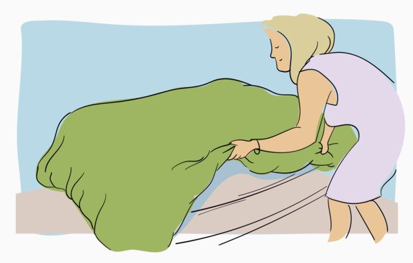 How to put on a duvet cover step 6