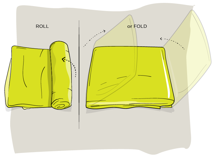How to fold a fitted sheet method two step three