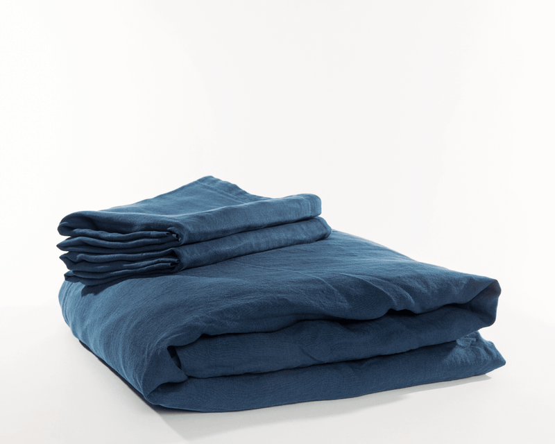 Organic European Linen Duvet Cover Sets | Solid Colors