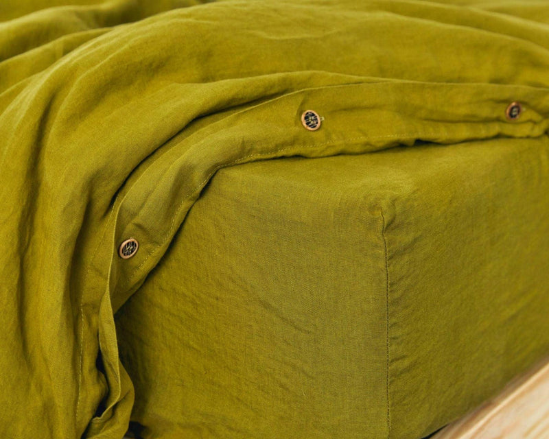 Organic European Linen Fitted Sheets