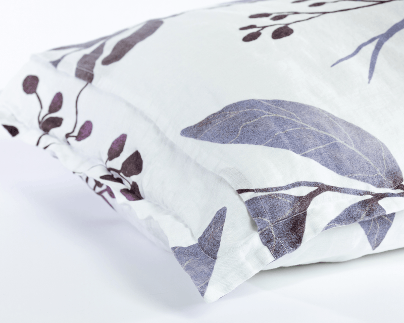 Organic European Linen Pillowcase Set | Blålig
