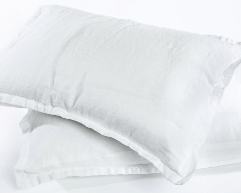 Organic European Linen Pillowcase Set | Solid Colors