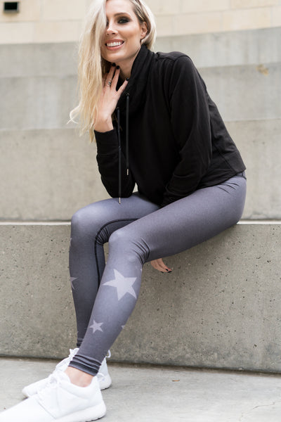 COSMIC DREAMER BLACK HEATHER - SHAKTI LEGGINGS