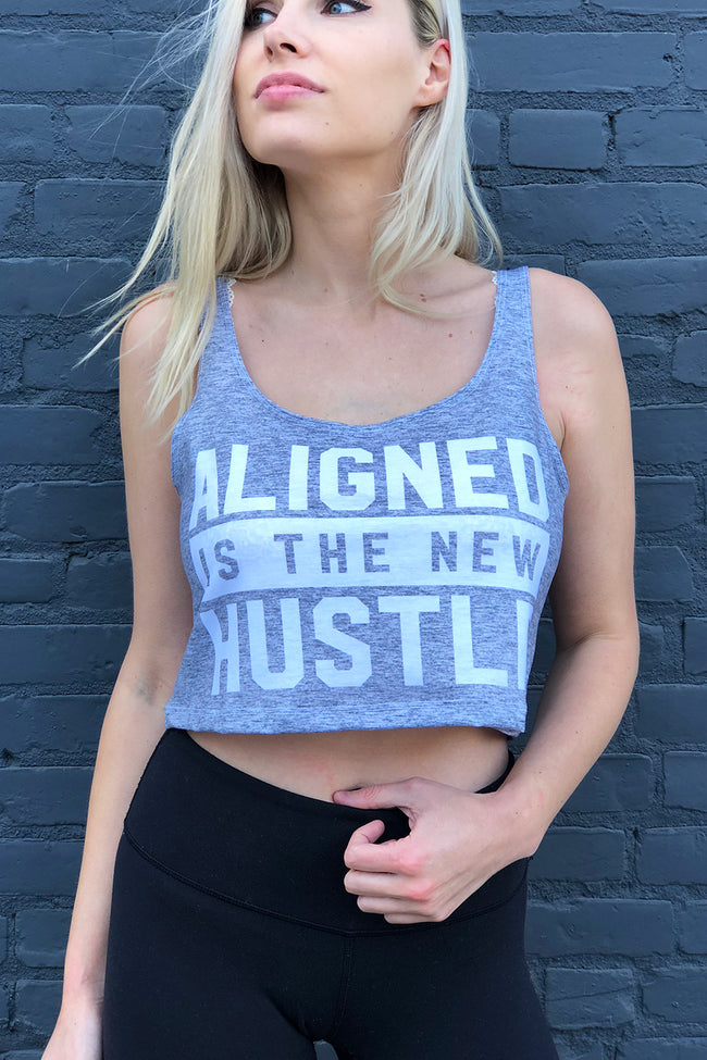 NEW HUSTLE HEATHER - CRESCENT TANK