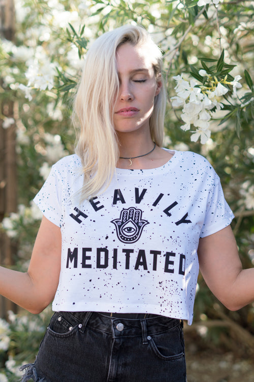HEAVILY MEDITATED - CROP TEE
