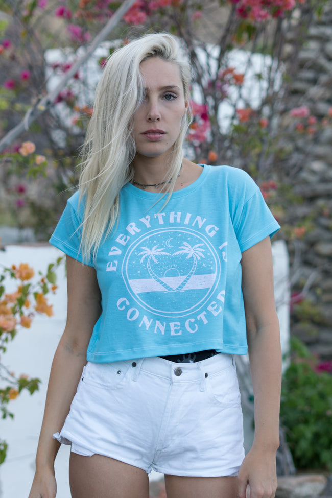 EVERYTHING IS CONNECTED - CROP TEE
