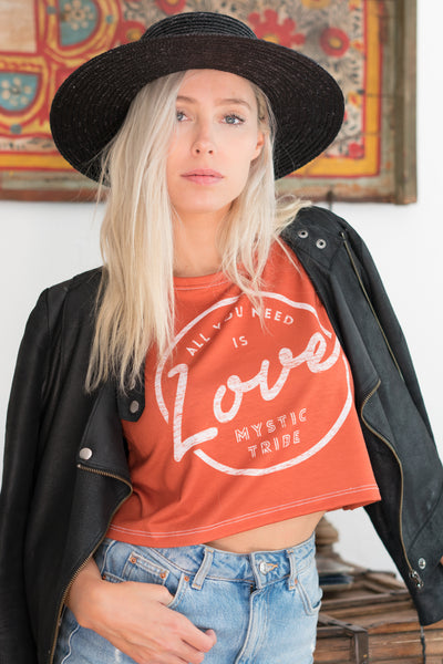 ALL YOU NEED IS LOVE - CROP TEE