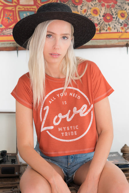 ALL YOU NEED IS LOVE V.2 - CROP TEE