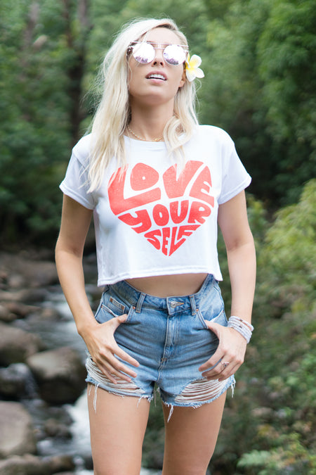 WRITTEN IN THE STARS - CROP TEE