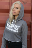 MIND ON MY MANTRA - CROP HOODIE