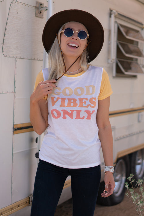 GOOD VIBES ONLY - EMPRESS TEE