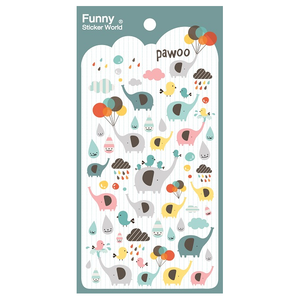 Elephant Gel Sticker Sheet
