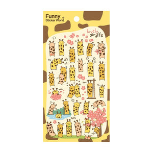 Giraffe Epoxy Sticker Sheet