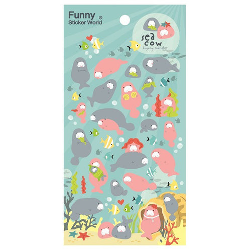 Manatee Puffy Sticker Sheet