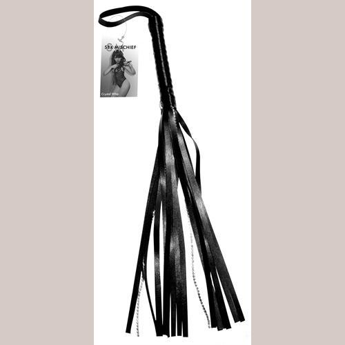 Sex and Mischief Crystal Whip - Black