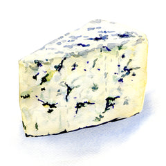 Watercolour Illustration of Blue Cheese